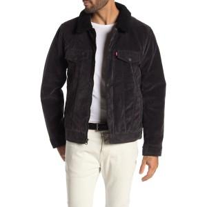 Faux Suede & Faux Shearling Lined Trucker Jacket