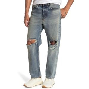 Dagh Distressed Straight Leg Jeans