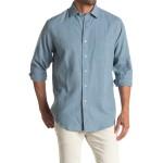 Linen Blend Long Sleeve Sport Shirt