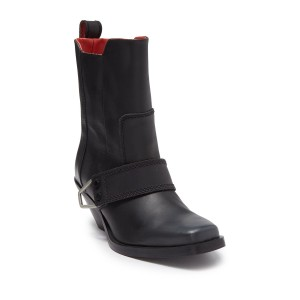 Bioys Buckled Leather Western Boot