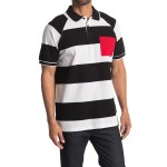 Barley Rugby Stripe Polo Top