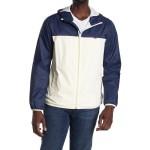 Colorblock Hooded Rain Jacket