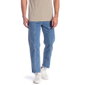 Dagh Fray Trim Straight Jeans