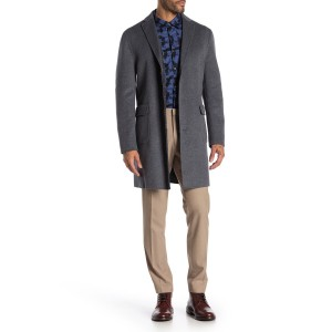 Grey Solid Button Coat