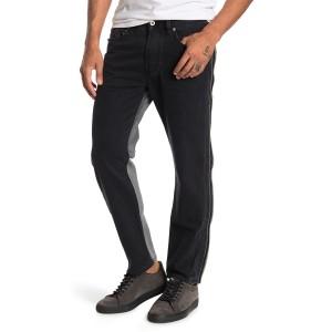 Mharky Side Zipper Straight Leg Jeans