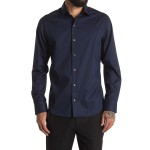 Long Sleeve Solid Dress Shirt