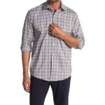 Plaid Print Performance Long Sleeve Sport Shirt