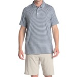 Caddie Green Stripe Golf Polo