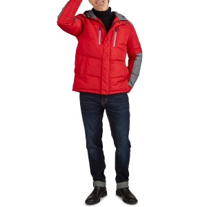Colorblock Hooded Puffer Jacket