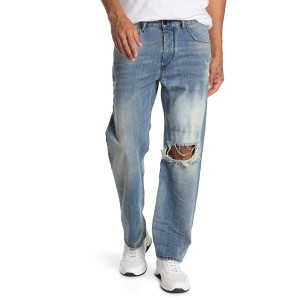 Kodeck Distressed Straight Leg Jeans