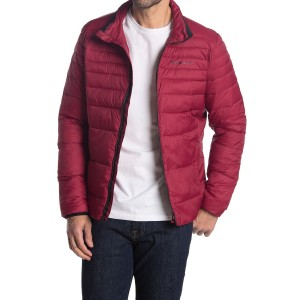 Mock Neck Zip Puffer Jacket