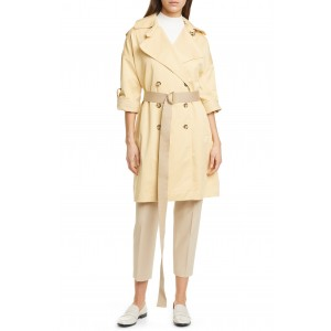 Belted Double Breasted Trench Coat