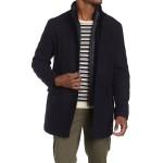 Stand Collar Bib Wool Blend Coat