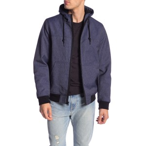 Faux Shearling Lined Bomber Jacket