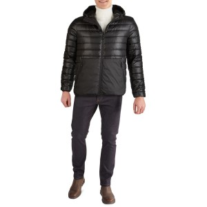 Hooded Midweight Quilted Zip Jacket
