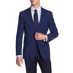 Adams Navy Plaid Two Button Notch Lapel Suit Separates Jacket