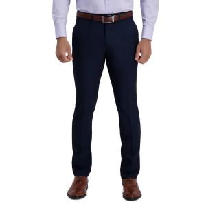 Mini Grid Textured Solid Slim Fit Suit Separates Trousers - 30-32 Inseam
