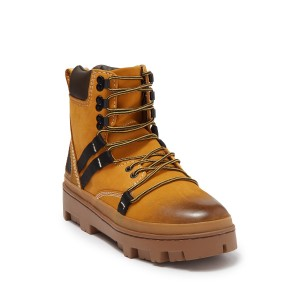 80s Vibe Leather Lace-Up Boot