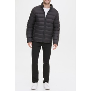 Horizontal Midweight Quilted Puffer Jacket