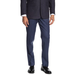 Medium Blue Solid Regent Fit Suit Separates Trousers - 30-34 Inseam