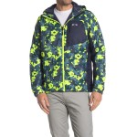 Enhance Patterned Insulated Hooded Jacket