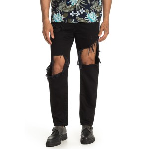 Mharky Distressed Ripped Slim Skinny Jeans