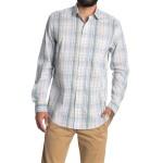 Plaid Print Long Sleeve Sport Shirt