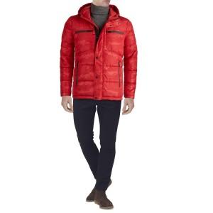 Camo Print Hooded Puffer Jacket