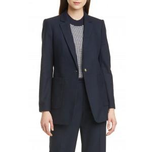Textured Cotton Blend Jacket
