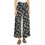 Floral Wide Leg Satin Pants