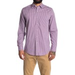 Micro Check Long Sleeve Sport Shirt
