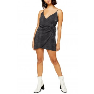Satin Wrap Minidress