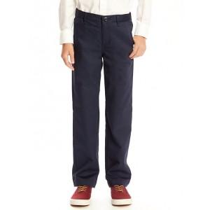 Flat-Front Straight Uniform Khakis for Boys