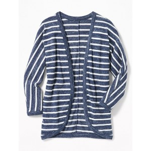 Open-Front Cocoon Cardi for Girls