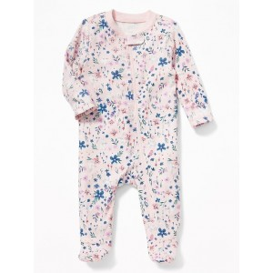 Easter-Print Footed One-Piece for Baby