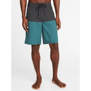 Color-Block Board Shorts for Men - 10-inch inseam