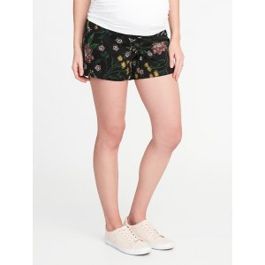 Maternity Side-Panel Printed Shorts (5