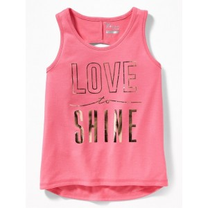 Graphic Twist-Back Performance Tank for Girls