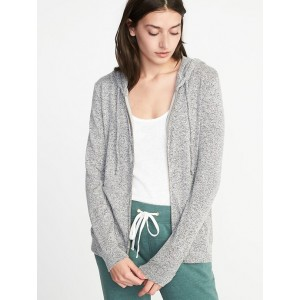 Relaxed Plush-Knit Sleep Hoodie for Women