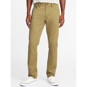 Slim Built-In Flex All-Temp Twill Five-Pocket Pants for Men