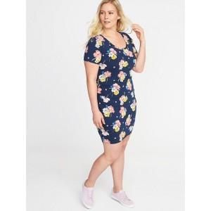 Plus-Size Scoop-Neck Bodycon Dress