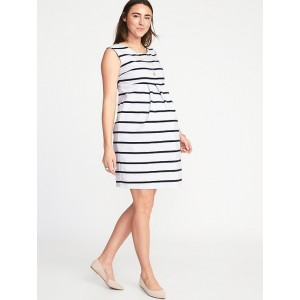 Maternity Sleeveless Ponte-Knit Dress