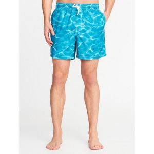 Printed Swim Trunks for Men (6