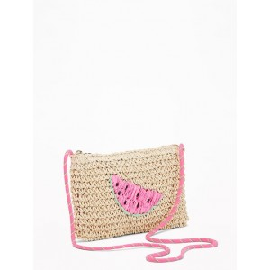 Watermelon-Graphic Straw Bag for Girls