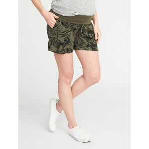Maternity Roll-Panel Soft Shorts (5