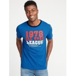 Soft-Washed Graphic Ringer Tee for Men