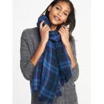Flannel Blanket Scarf for Women