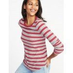 Slim-Fit Luxe Rib-Knit Top for Women