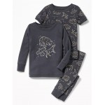 Constellation-Graphic 3-Piece Sleep Set for Toddler & Baby