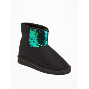 Faux-Suede Flip-Sequin Adoraboots for Girls